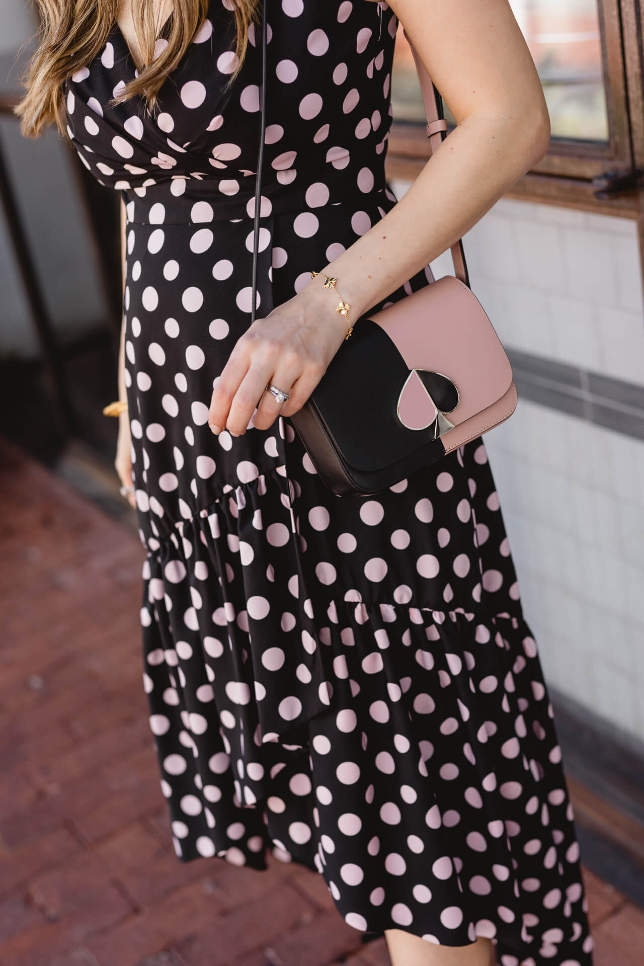 A black and white polkadot dress! - M Loves M