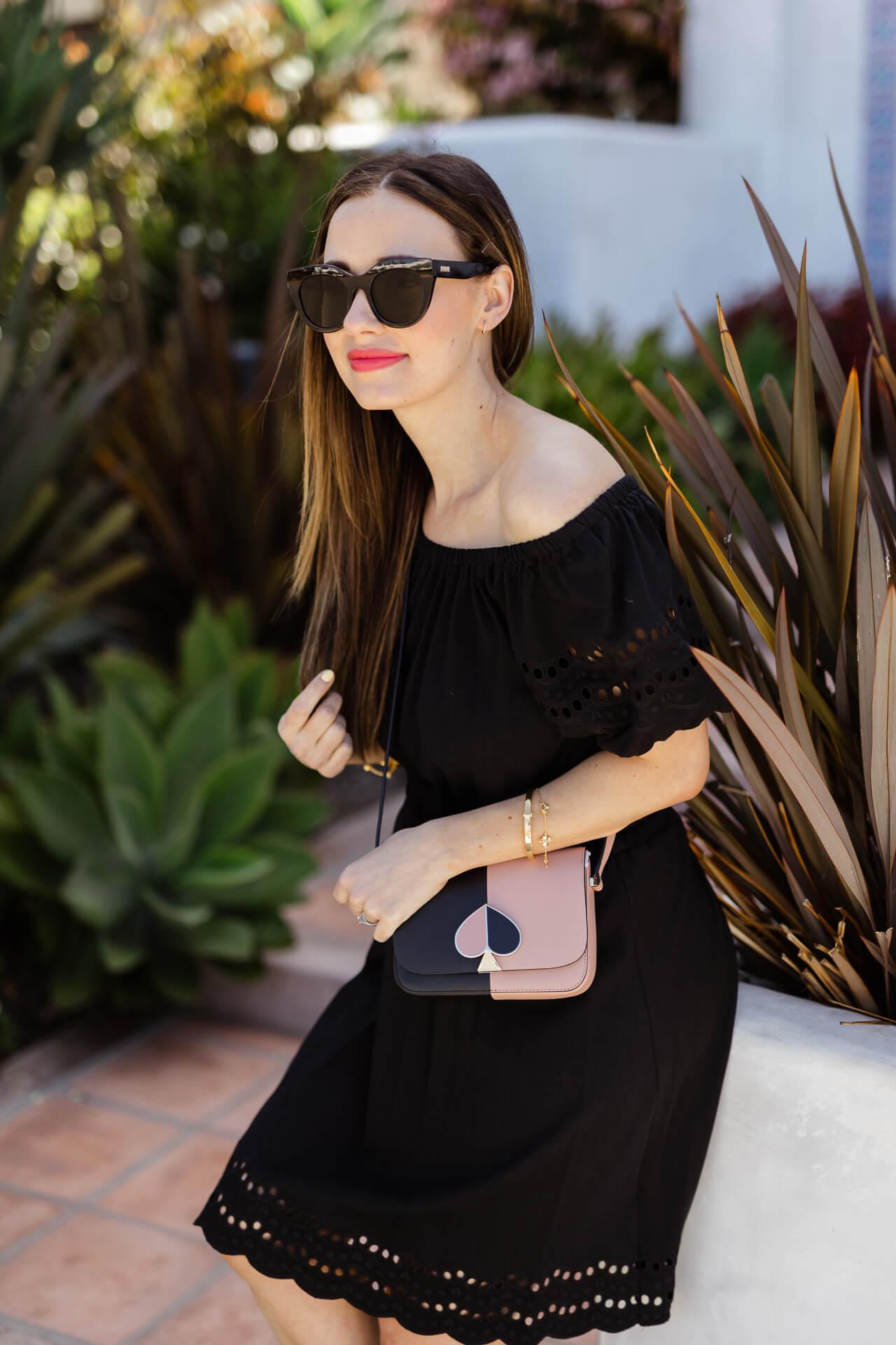 A cute black cotton dress! - M Loves M