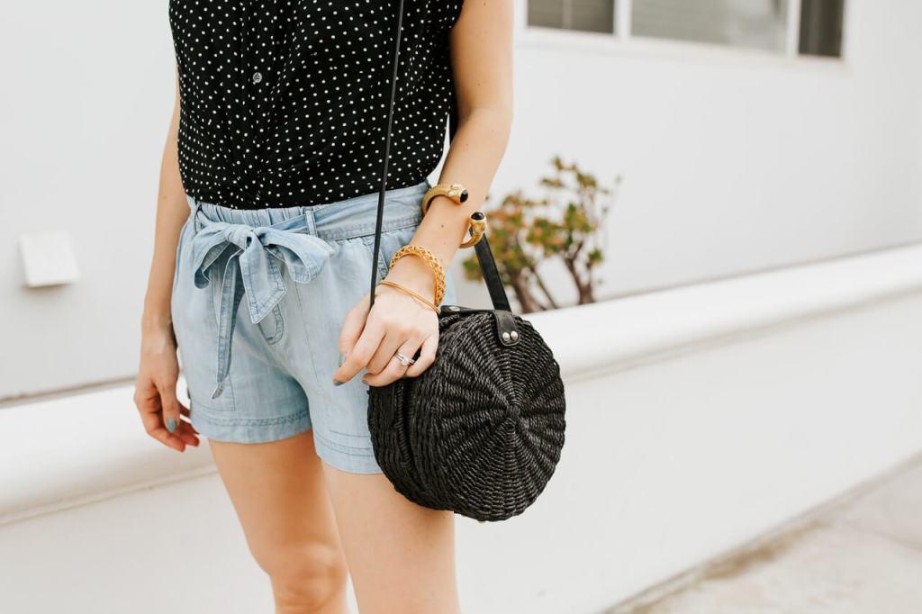 A straw spring handbag! - M Loves M