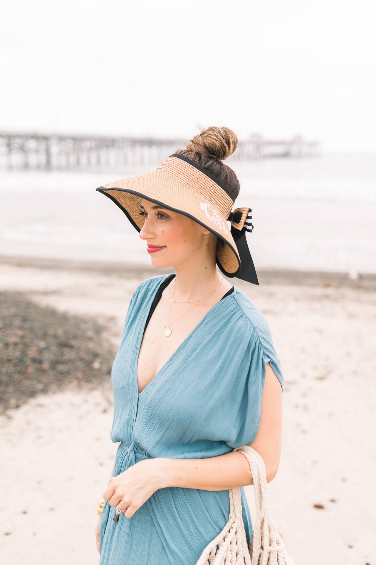 Cute straw hat visor for summer - M Loves M