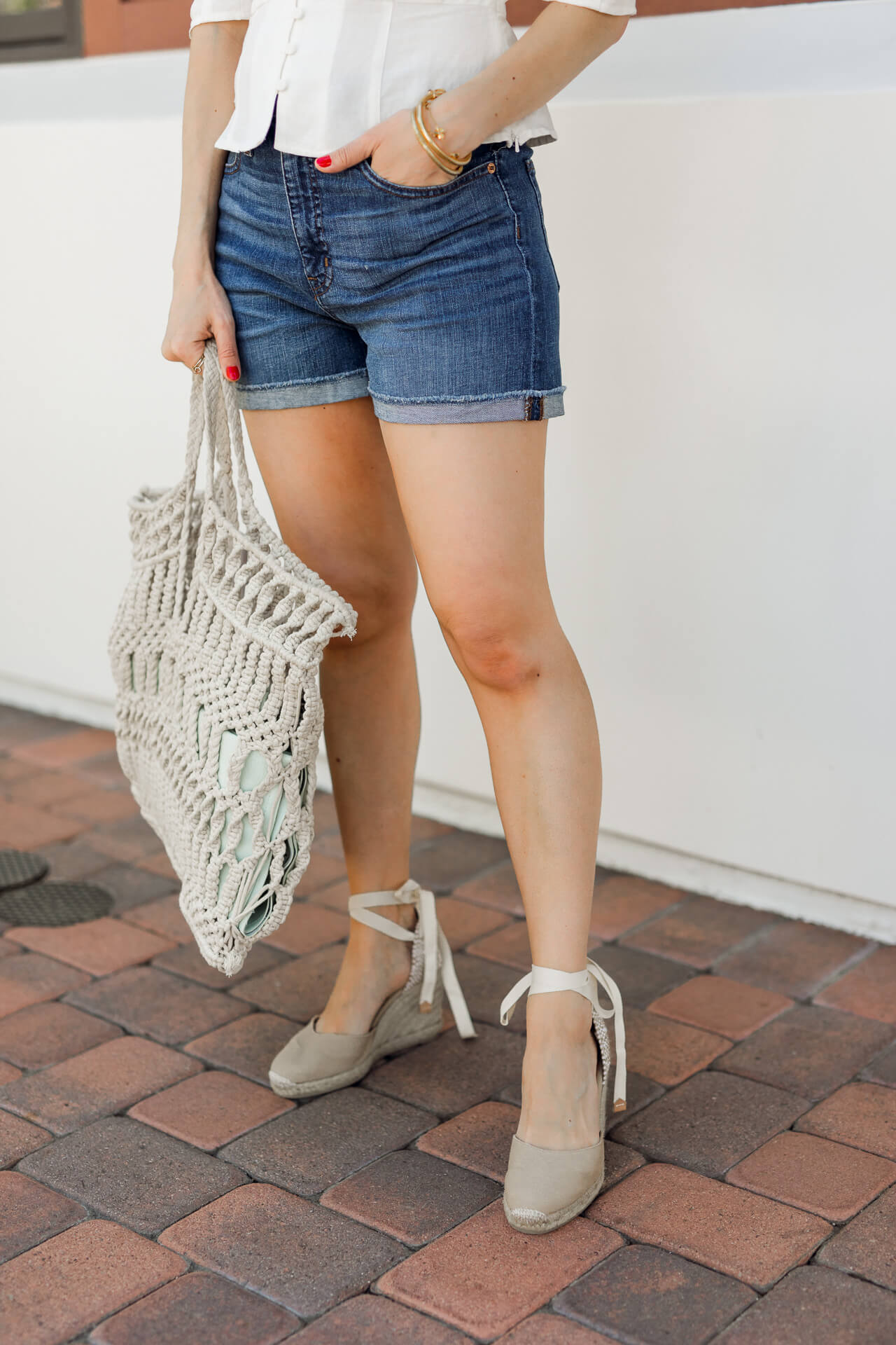 Love espadrilles with shorts! - M Loves M
