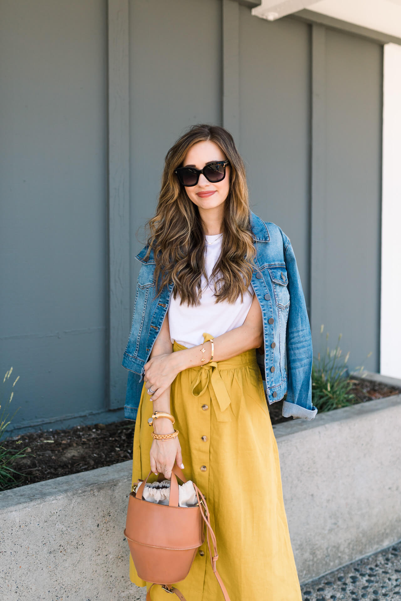 ways to wear a denim jacket with a skirt - M Loves M @marmar