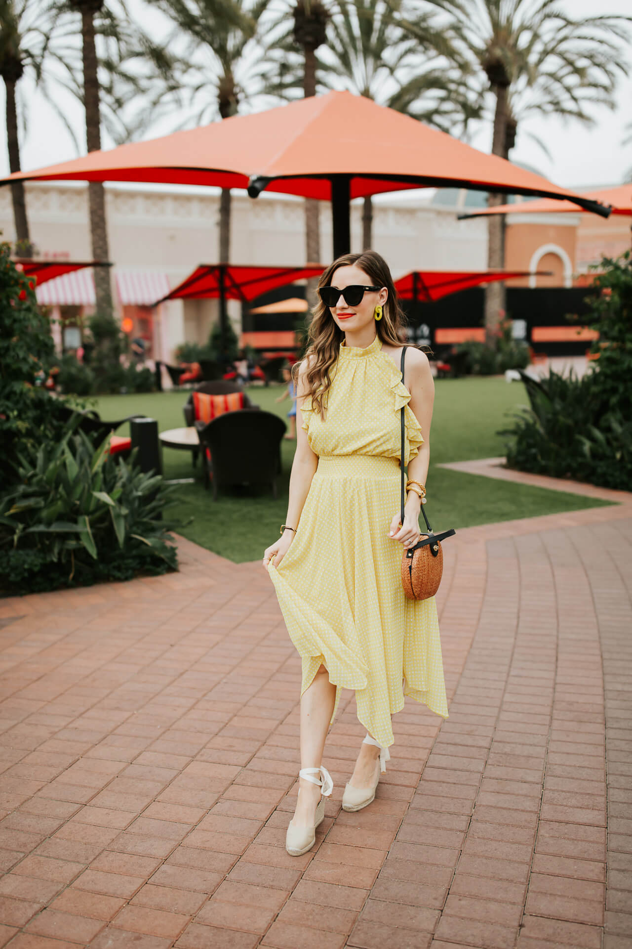 outfit inspiration for summer with a yellow halter dress - M Loves M @marmar
