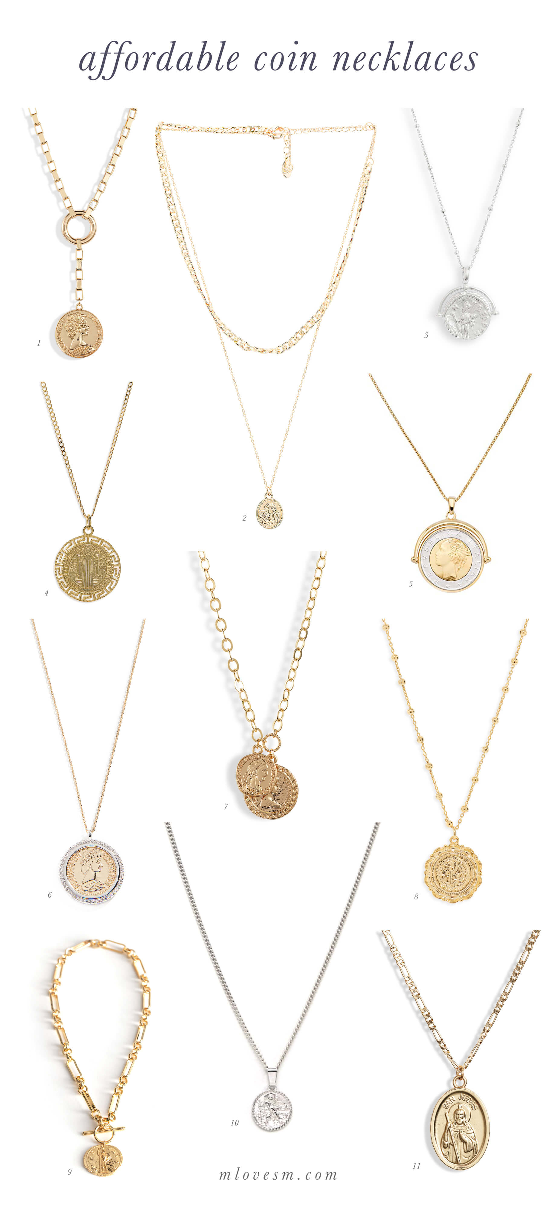 Love these affordable coin necklaces! - M Loves M @marmar