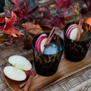 A bourbon spiced cider cocktail recipe! - M Loves M @marmar