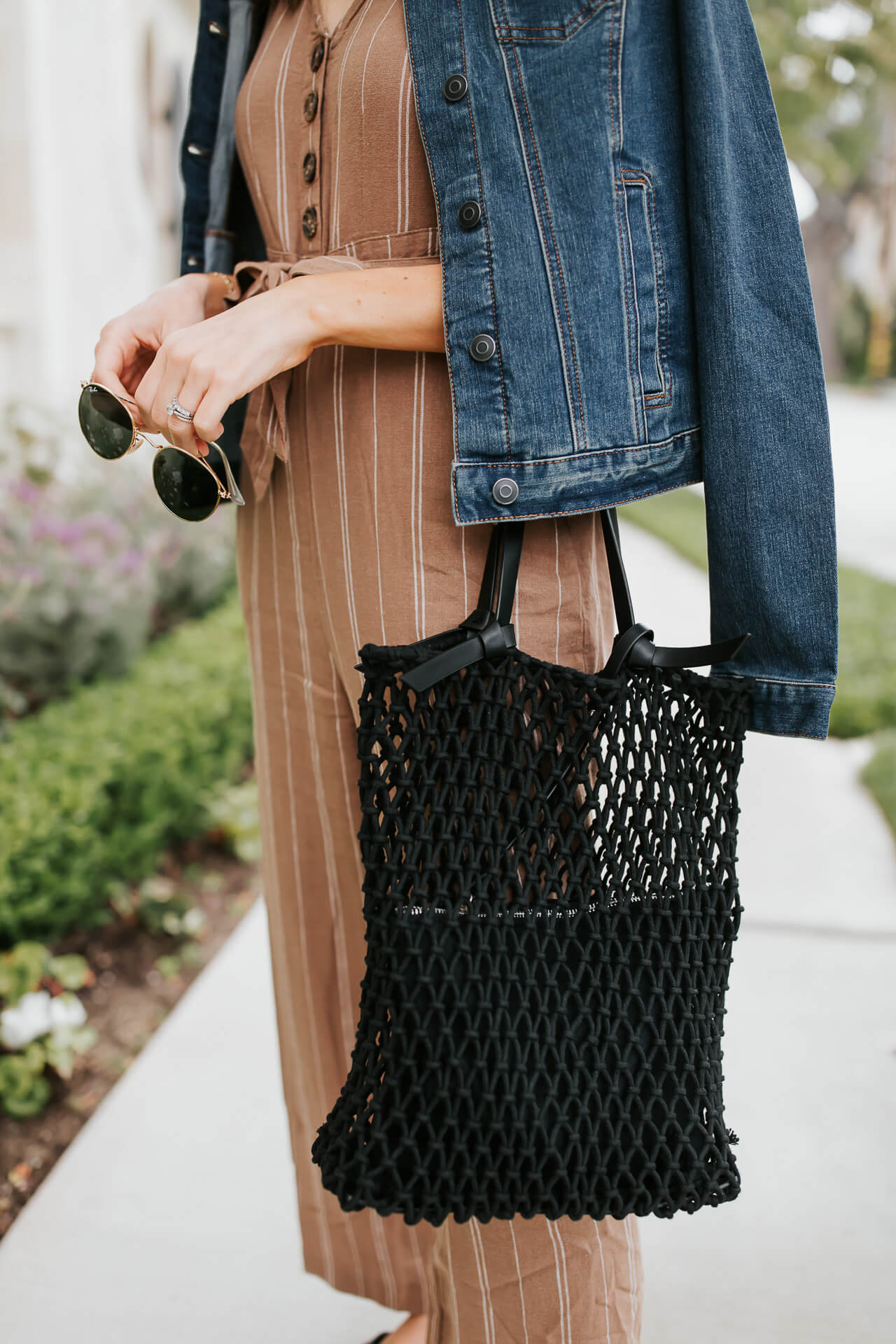 A black net shopping tote! - M Loves M @marmar