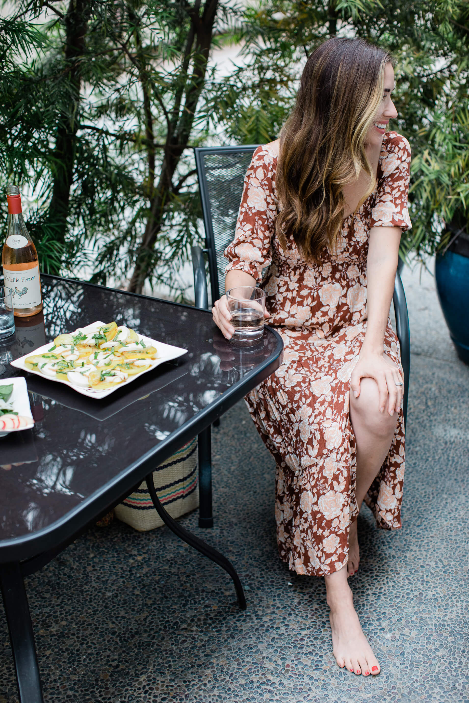 fall floral dress for an evening happy hour - M Loves M @marmar