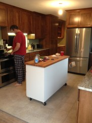 First meal in our new kitchen.