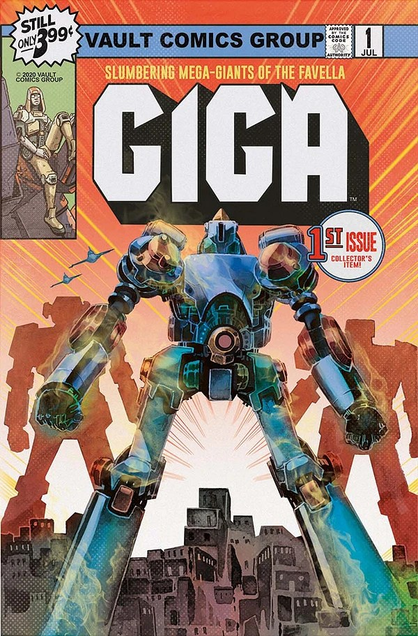 Giga artwork by Nathan Gooden and Tim Daniel from Vault Comics and the Hollywood Reporter.