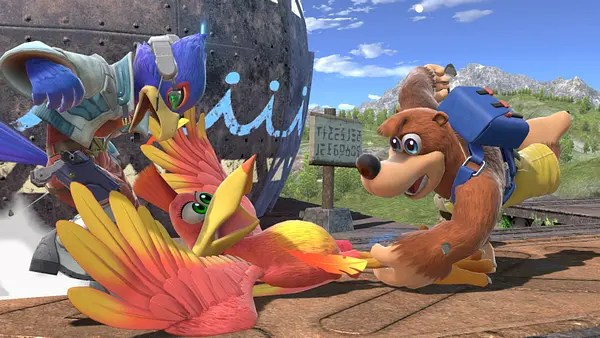 Dude, wouldn't it be nice to play Banjo-Kazooie on the switch outside of Smash Bros.?  Courtesy of Nintendo.
