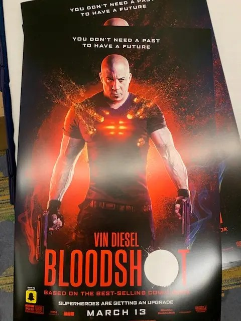 bloodshot movie out in two weeks