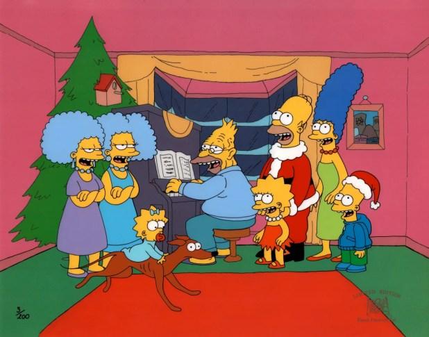 Resultado de imagen para the simpson christmas roasting on