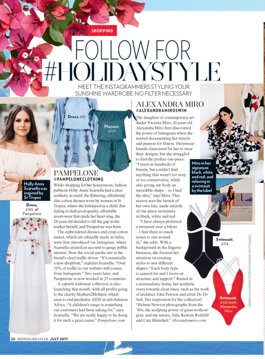 Alexandra Miro in Red Magazine