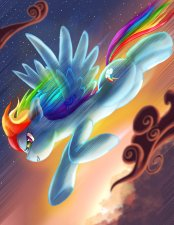 La voltigeuse la plus awesome d'Equestria !