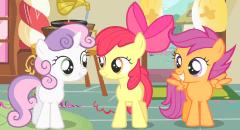 Sweetie Belle, Apple Bloom et Scootaloo, les 3 chercheuses de talent !