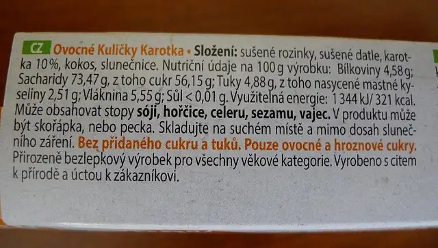 Ovocné Kuličky - Karotka