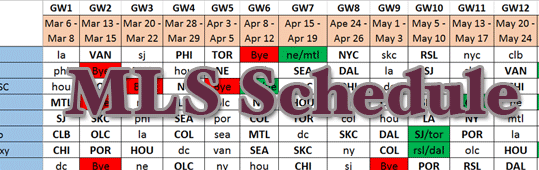 MLSFB Full 2016 Season Schedule - Final Update?