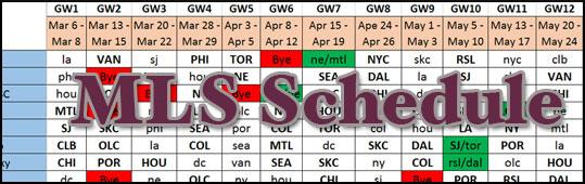 Round 20-34 Schedule Update