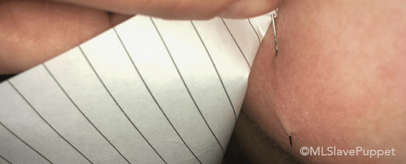 Piercing my Nipple with a Needle