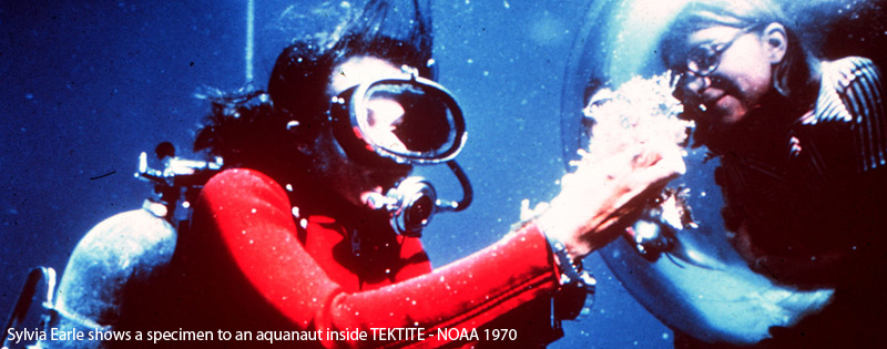 Sylvia Earle underwater NOAA 1970