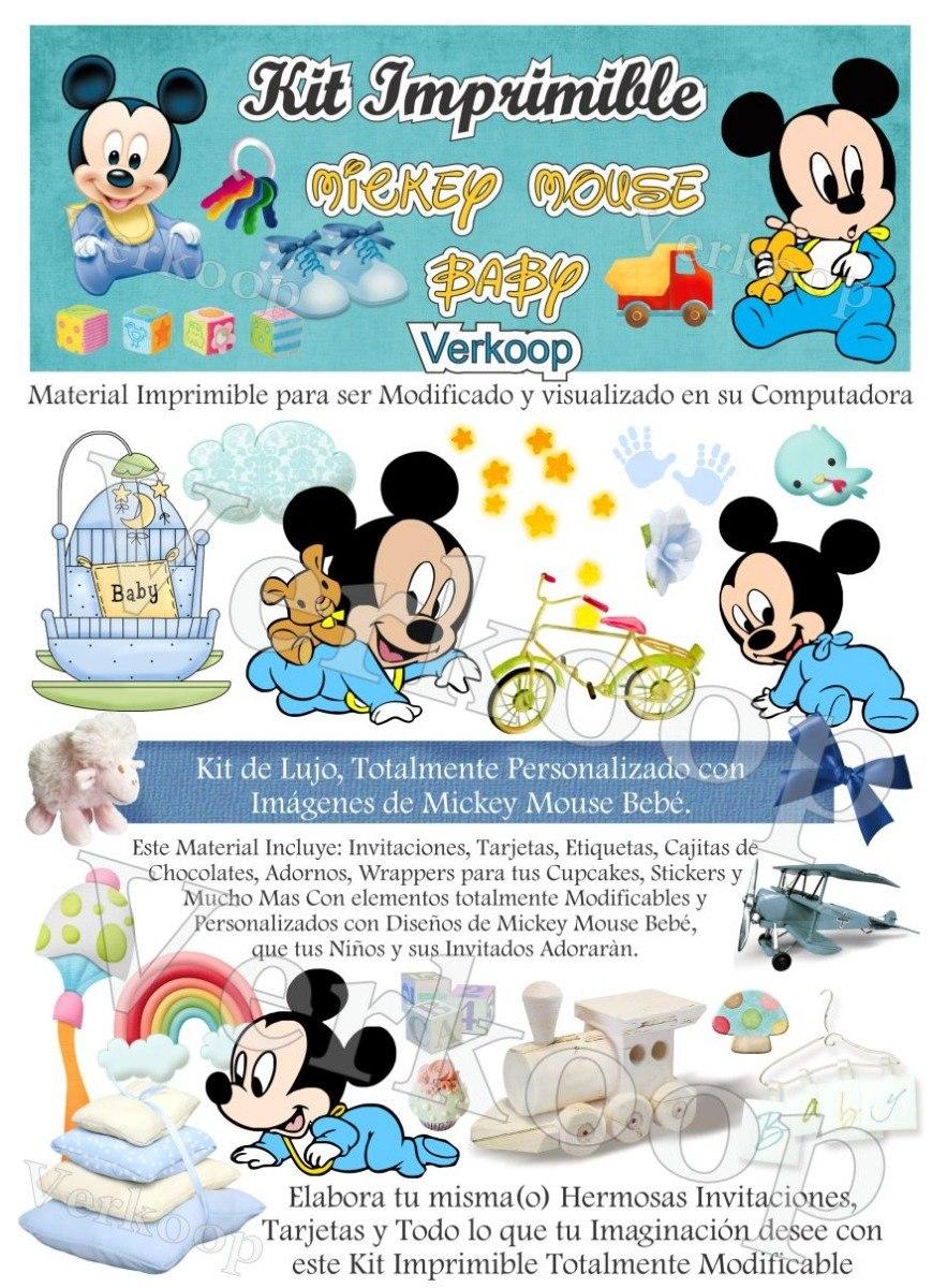 Invitaciones Con Foto De Mickey Mouse