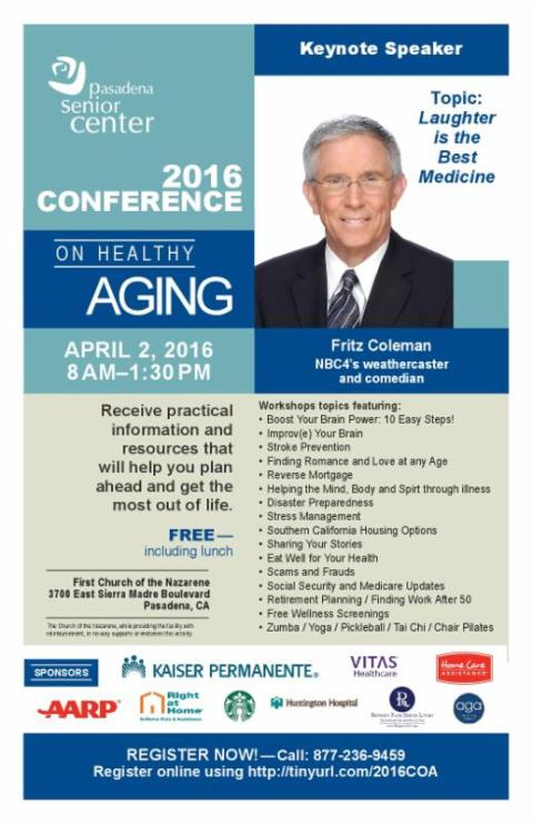 All the details of the 2016 Conference on Healthy Aging
