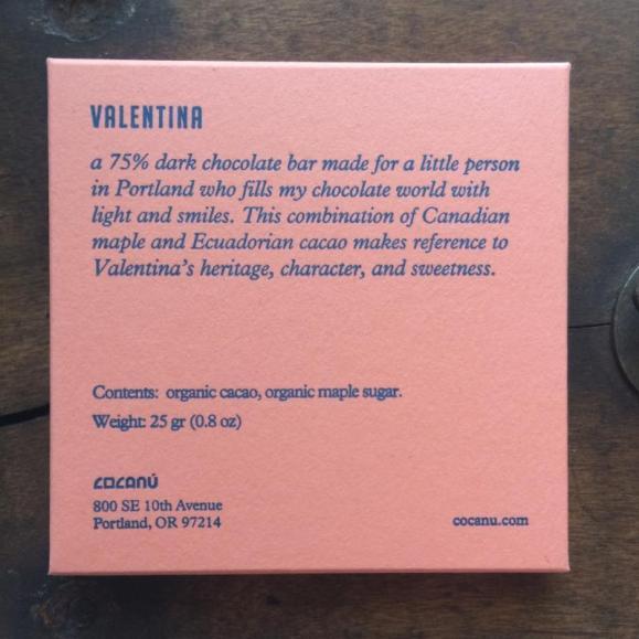 Valentina Maple Sugar Chocolate