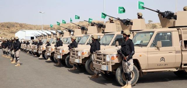 Saudi Arabian forces prepare for Operation Decisive Storm.