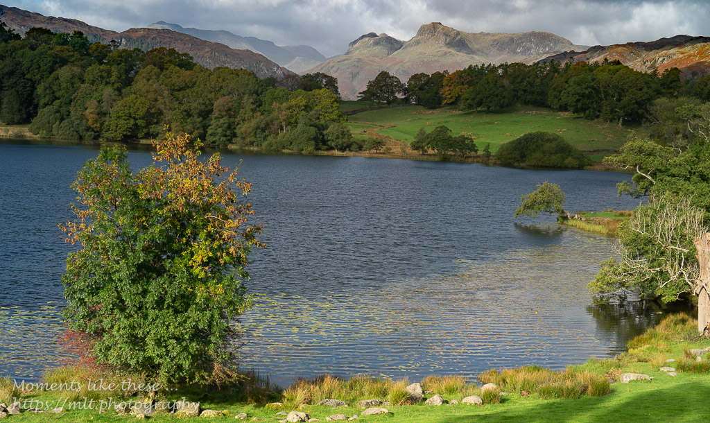 Loughrigg Tarn and Langdale Pikes