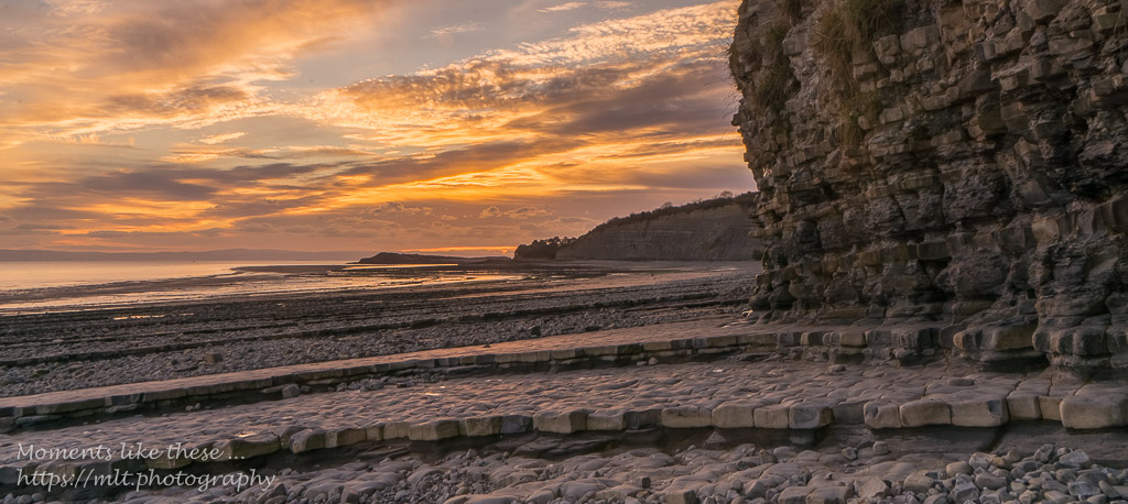Sunsets at Lavernock and Sully