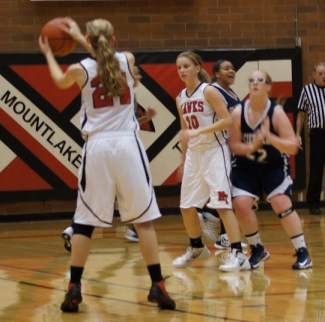 Terrace Guard Samantha Romanowski gets the pass.