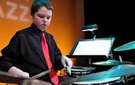 The Jazz Band's Ryan Leppich on drums.