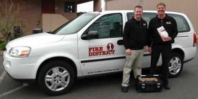 In a program funded by a federal grant, smoke alarm technicians Brendan Magee and Steve Snyder will be providing free home safety checks and smoke alarm installation for west Snohomish County, Brier, Edmonds, Mountlake Terrace and Woodway.