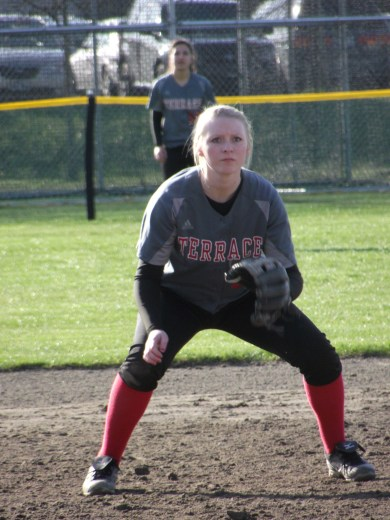 Hannah Baisch picked up the only extra base hit by Terrace.