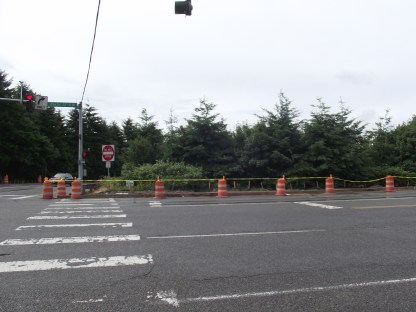 Overpass work has required closure of the eastbound bus stop for Route 130 near the MLT Transit Center.
