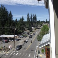 Unit #5114 features a bird's eye view of Mountlake Terrace.