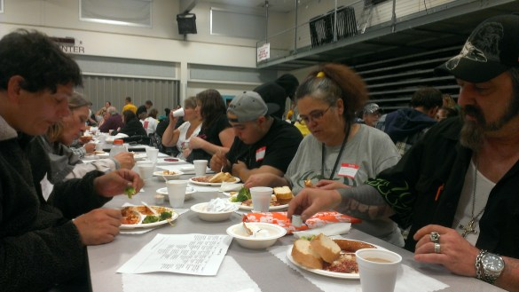 Some of the 1202 participants that recieved meals and services at the Project Homeless Connect event. (Photo courtesy of United Way Snohomish County)