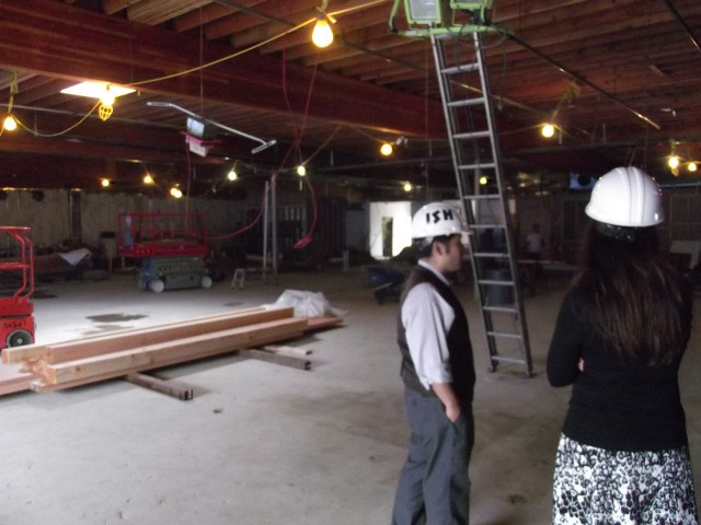 Work inside the new Diamond Knot Brewpub @ MLT is in its early stages