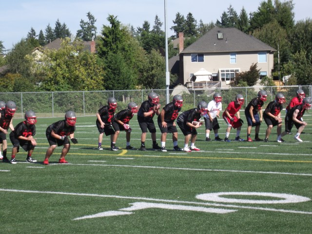 The Hawks took the field for the first practice of the 2013 season on Wednesday