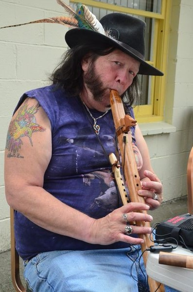 Very special guest Duffy Owens performed original compositions on the Native American flute.