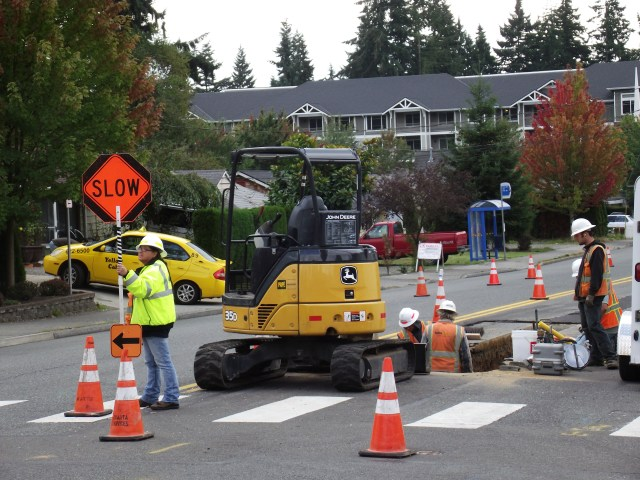 Work on 56th Street Southwest continues.