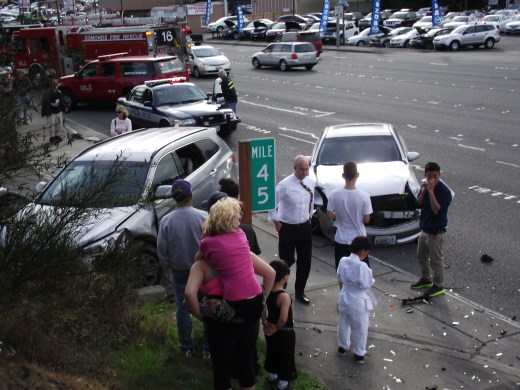 Three-car accident on Hwy. 99, Sept. 20 009