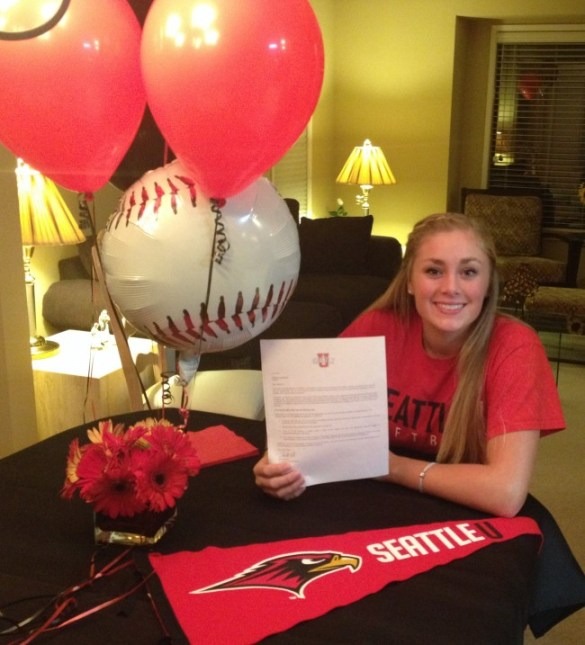 Hawks senior Maddy Kristjanson signed her Letter of Intent earlier this month to play softball for the Seattle University Redhawks. Kristjanson recieved her ninth league honors with this fall's All-Wesco League soccer first team selection.