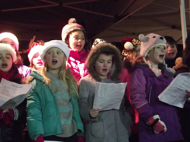 Singers from Mountlake Terrace Elementary and Terrace Park Elementary sang during the event. (Photos by Doug Petrowski)