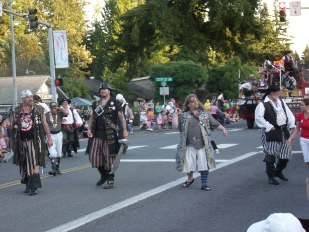 Seafair Pirates in the 2013 Tour de Terrace parade.