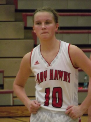 Nikkie Froehlich at a game earlier this season.