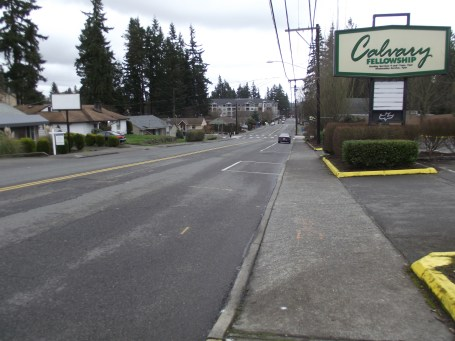 This stretch of 56th Avenue West is part of the Town Center District to be improved.