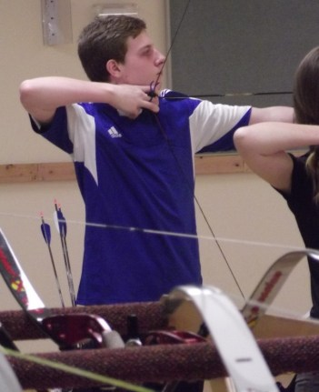 Joel Seeger of Brier competed in the Male Cadet Recurve division of the U.S. National Indoor Championships in Mountlake Terrace on Sunday.