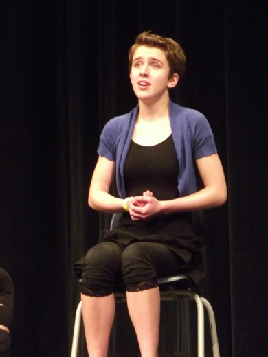 """Alia Thomair sings the opening stanza of """"Be My Friend"""" from  """"Edges."""""""