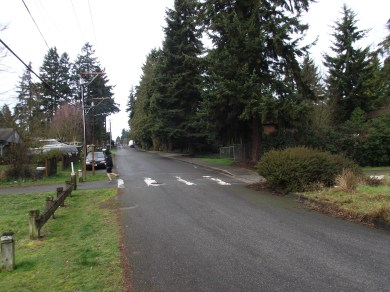 A photo of 224th Street Southwest where it intersects with today's Interurban Trail.